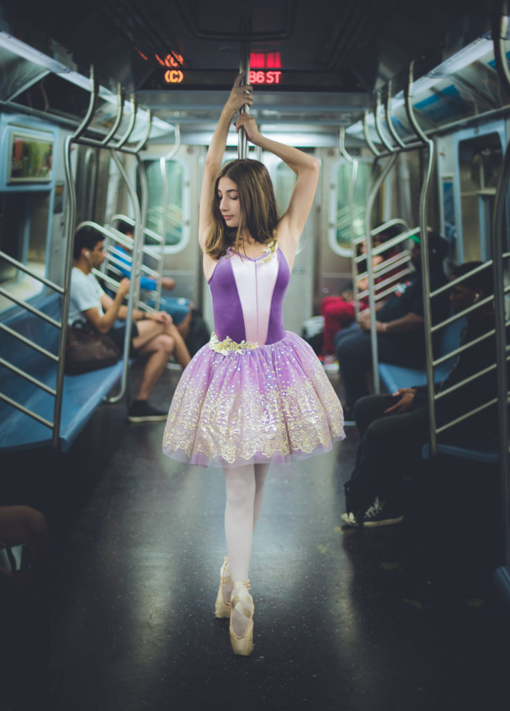 Ballerina In NYC Subway
